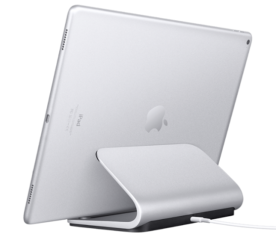 Die iPad-Pro-Ladestation Logi Base (Bild: Logitech)