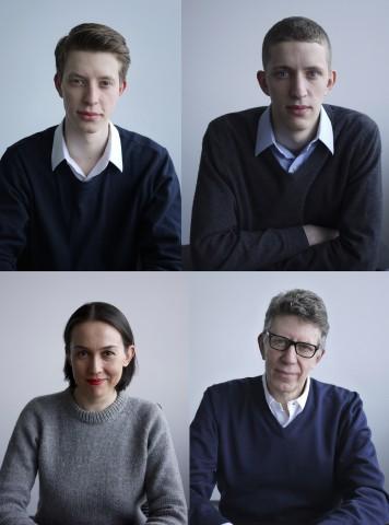 Die Gründerfamilie Nitsche (oben: Maxim und Raphael Nitsche, unten: Oxana und Thomas Nitsche) (Bild: Cogeon)