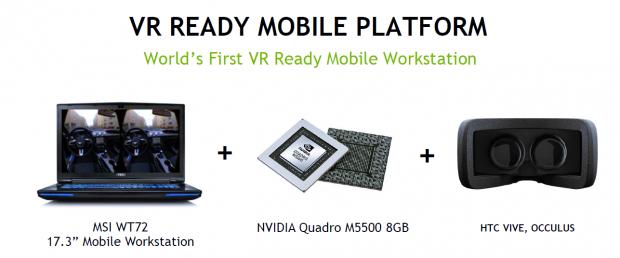 Die Quadro M5500 erfüllt die Systemanforderungen von HTC und Oculus VR. (Bild: Nvidia)