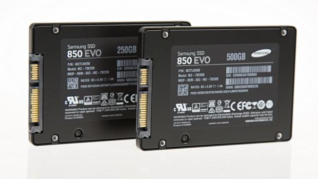 850 Evo v2 mit 250 und 500 GByte (Foto: Martin Wolf/Golem.de)