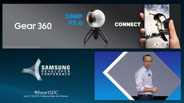 Die Gear 360 nimmt Rundherum-Videos auf. (Bild: Samsung)