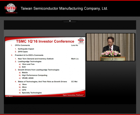 TSMCs Mark Liu im Webcast (Screenshot: Golem.de)