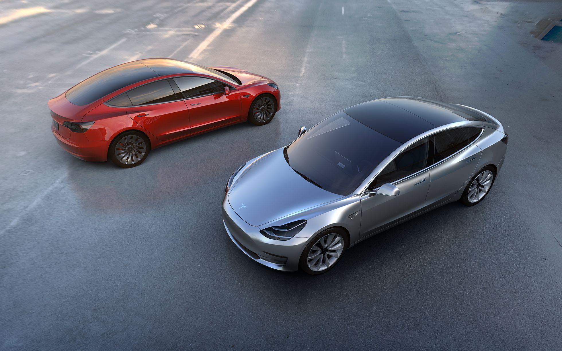 Elektroauto: Tesla Model 3 startet mit 115.000 Reservierungen - Tesla Model 3 (Bild: Tesla Motors)