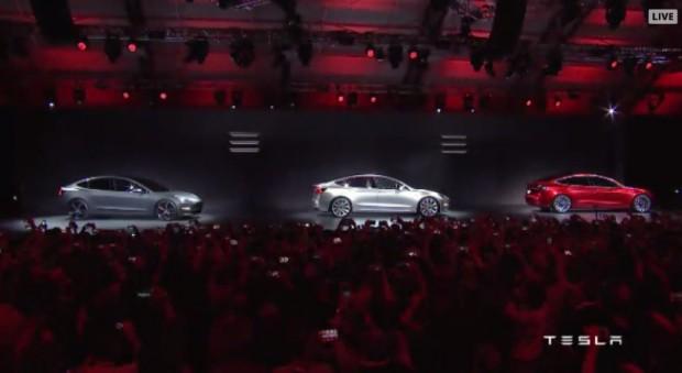 Tesla Model 3 (Bild: Tesla Motors/Screenshot: Golem.de)