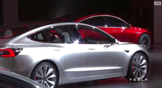 Tesla Model 3 (Bild: Tesla Motors/Screenshot: Golem.de)