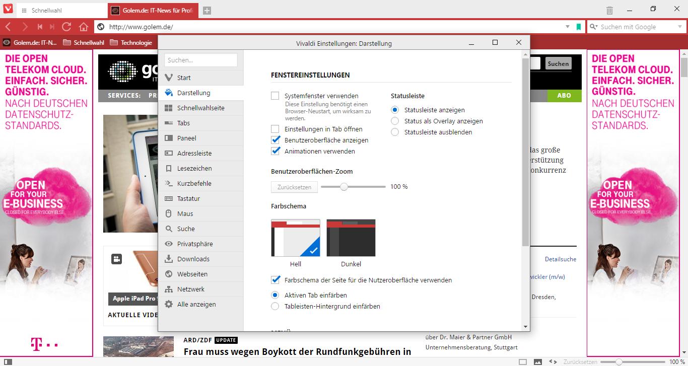 Vivaldi 1.0 im Test: Der gelungene Opera-Nachfolger -