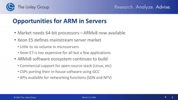 Gute Marktchancen für ARM-Chips (Bild: The Linley Group)