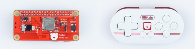 IOT-Hat: Funkaufsatz und Gamepad für den Raspberry Pi Zero - IOT-Hat und Zero-Gamepad (Foto: Readbear Lab)