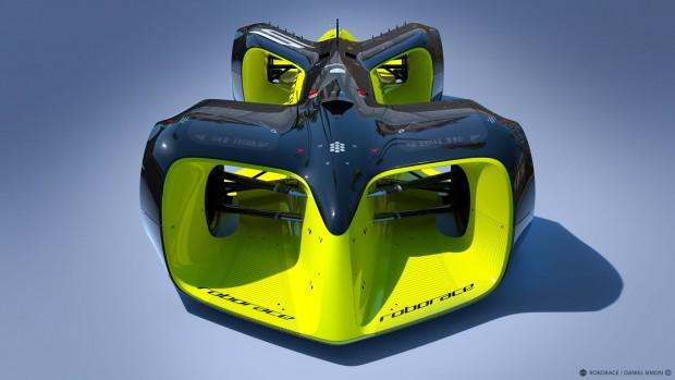 Der Einheitsbolide der robotischen Rennserie Roborace. (Bild: Daniel Simon/ Roborace)