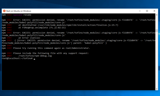 Bash on Ubuntu on Windows (Bild: Screenshot Golem.de)
