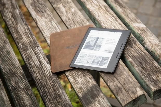 Amazons Kindle Oasis wird mit Akkupack ausgeliefert. (Bild: Martin Wolf/Golem.de)