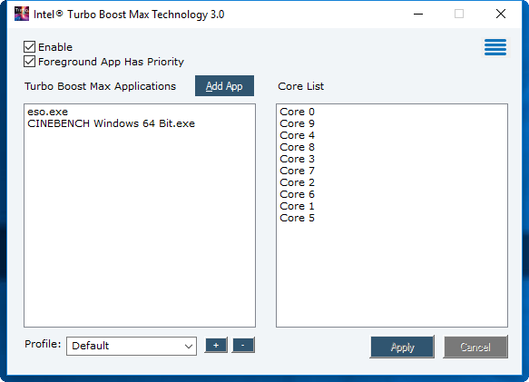 Der Turbo v3 wird per Tool konfiguriert (Bild: Intel)