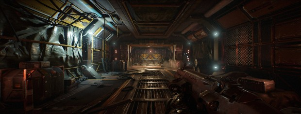 Doom in 21:9 mit Nightmare-Settings (Screenshot: Marc Sauter/Golem.de)