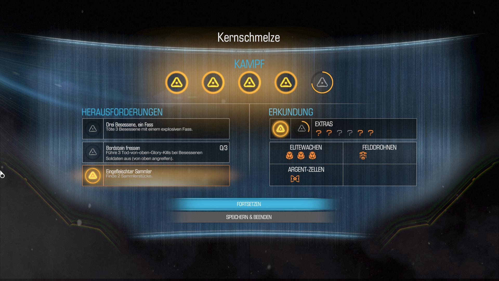 Doom im Test: Die beste blöde Ballerorgie - Nach dem Beenden eines Levels gibt es eine kurze Abrechnung. (Screenshot: Golem.de)