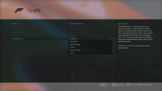 In Forza 6 ist Vsync deaktivierbar  (Screenshot: Marc Sauter/Golem.de)