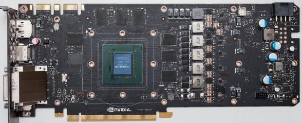 Platine der Geforce GTX 1080 (Bild: Techpowerup)