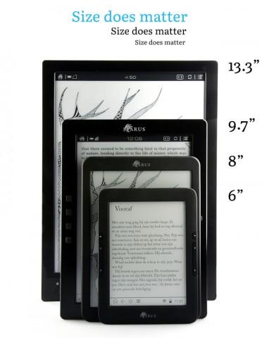 Der Icarus A4 im Vergleich mit anderen E-Readern von Icarus (Bild: Icarus)