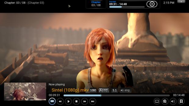Der Compute Stick unterstützt Kodi. (Screenshot: Golem.de)