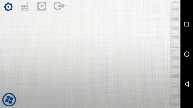Das Smartphone als virtuelles Mauspad ... (Screenshot: Golem.de)