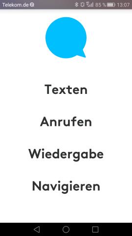 Vier Hautpfunktionen deckt die Zerotouch-App ab. (Screenshot: Golem.de)
