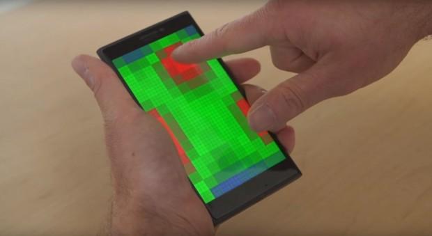 Das Pre-Touch-Display von Microsoft erkennt Gesten vor dem Display. (Bild: Microsoft/Screenshot: Golem.de)