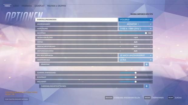 PC-Spieler können die Grafik im Detail an ihren Rechner anpassen. (Screenshot: Golem.de)
