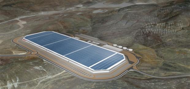 Tesla Gigafactory in Nevada (Bild: Tesla Motors)
