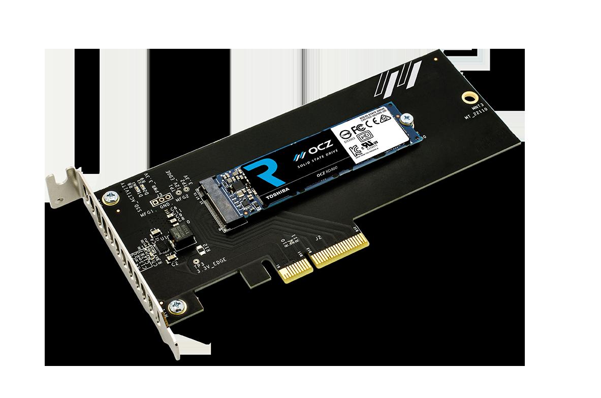 Toshiba OCZ RD400: Schnelle Consumer-M.2-SSD mit Extender-Karte - OCZ RD400 (Bild: Toshiba)