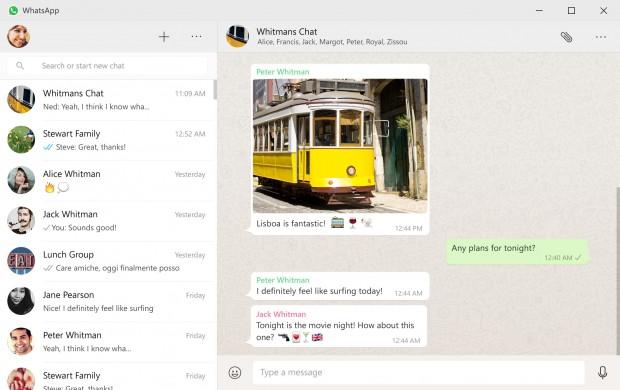 Whatsapp für den Desktop (Bild: Facebook)