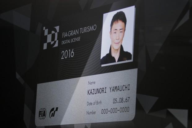 Die digitale FIA-Lizenz von Kazunori Yamauchi (Foto: Michael Wieczorek/Golem.de)