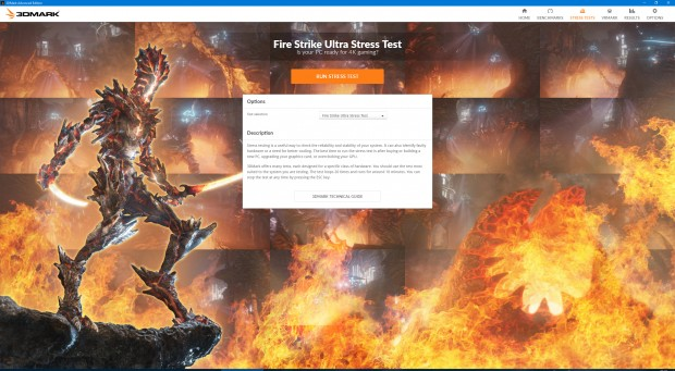 3DMark-Stresstest Fire Strike Ultra (Screenshot: Marc Sauter/Golem.de)
