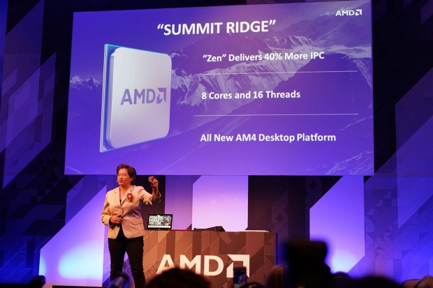 AMDs Lisa Su präsentiert Summit Ridge (Bild: Mark Mantel/PCGH)