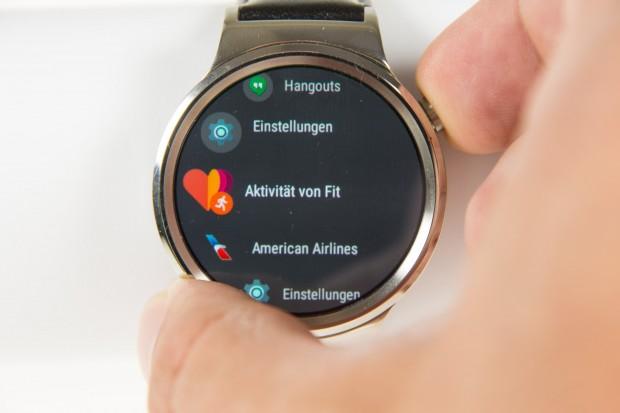 Android Wear 2.0 mit neuer App-Übersicht (Bild: Martin Wolf/Golem.de)