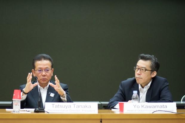 Vor Journalisten gab Tanaka zu, dass sein Land am Versinken ist. (Foto: Andreas Sebayang/Golem.de)
