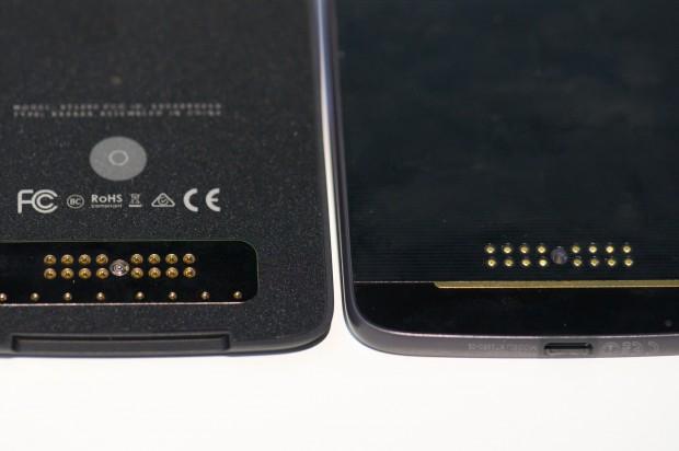 Anschlüsse beim Mod (l.) und dem Smartphone (r.) (Foto: Andreas Sebayang/Golem.de)