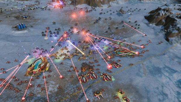 Testszene Ashes of the Singularity (Screenshot: Marc Sauter/Golem.de)
