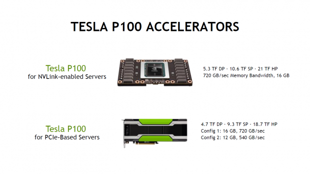 Tesla P100 mit 4x NV-Link oder als PCIe-Modelle (Bild: Nvidia)