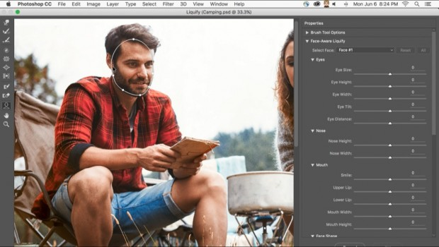 Photoshop CC 2015.5 Face-Aware Liquify  (Bild: Adobe)