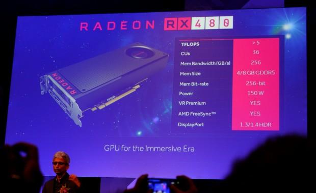 Spezifikationen der Radeon RX 480 (Foto: Marc Sauter/Golem.de)