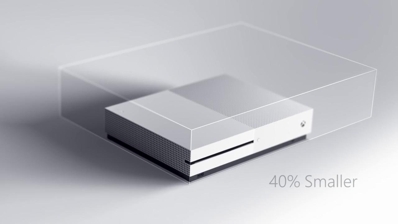 Xbox One S: Microsofts schlanke 4K-HDR-Konsole im Detail - Die Xbox One S ist kompakter als die Xbox One. (Bild: Microsoft)