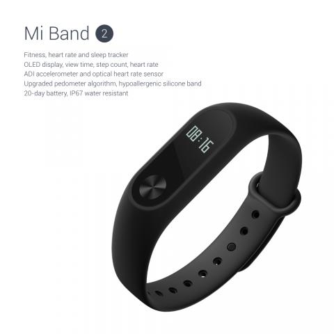 Das Mi Band 2 von Xiaomi (Bild: Xiaomi)