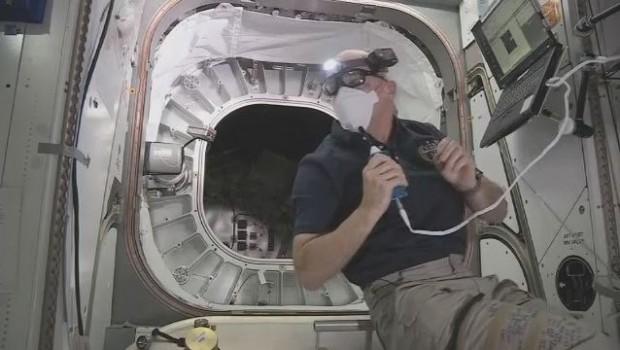 US-Astronaut Jeff Williams im Modul Beam (Bild: Nasa)