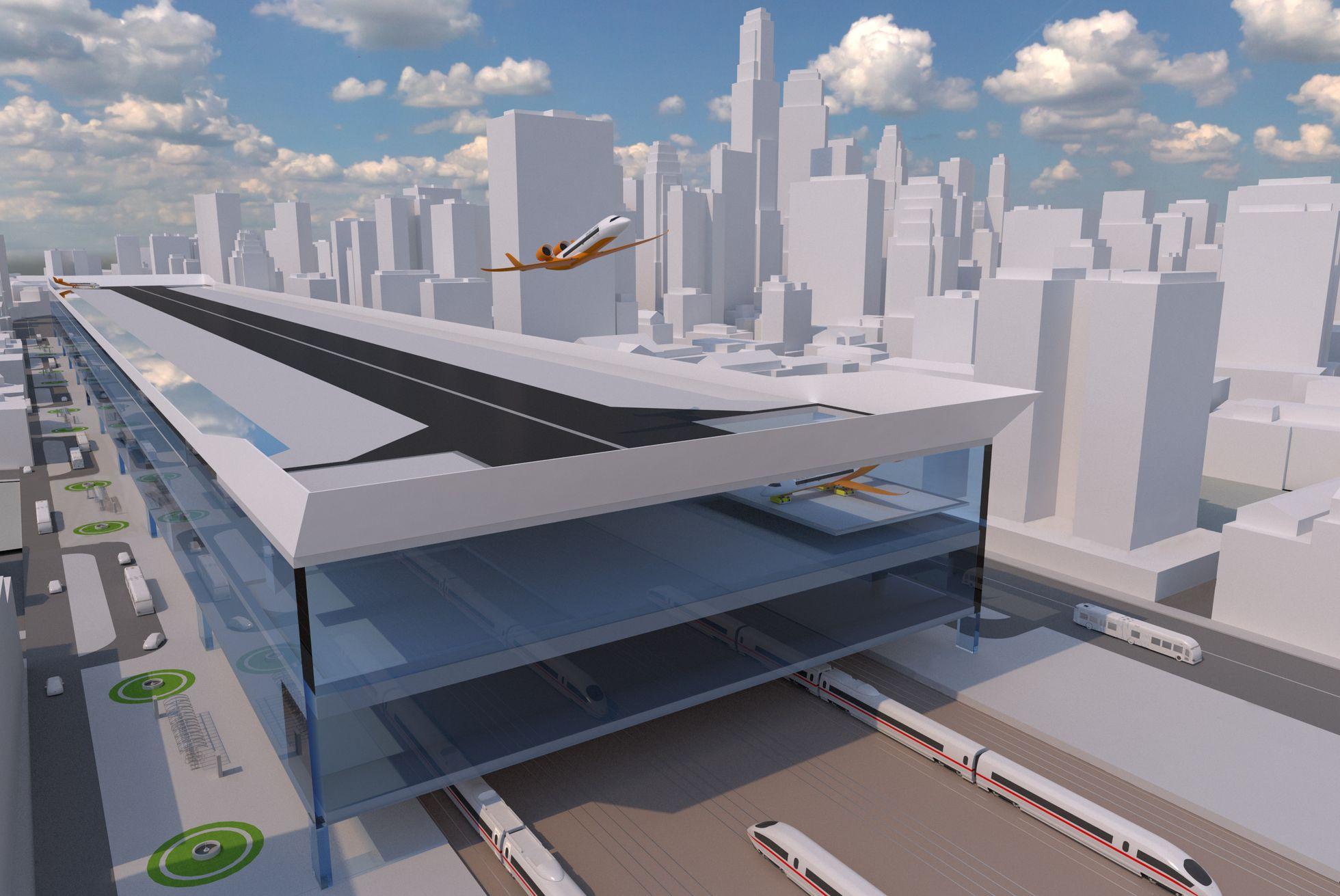 Centairstation: Ein fester Flugzeugträger auf den Gleisen -