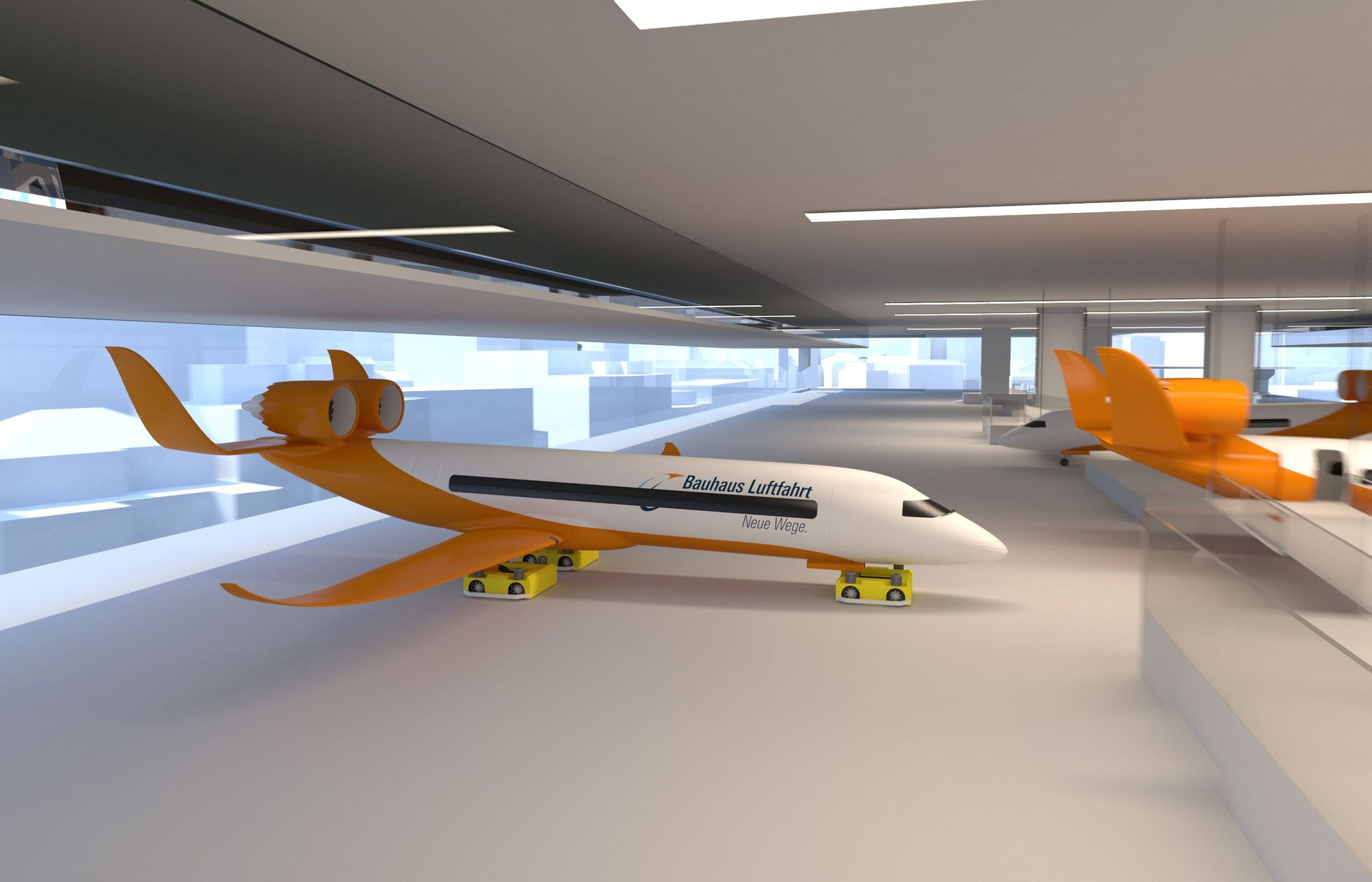 Centairstation: Ein fester Flugzeugträger auf den Gleisen - Das Konzept der vertikalen Integration... (Bild: Bauhaus Luftfahrt)