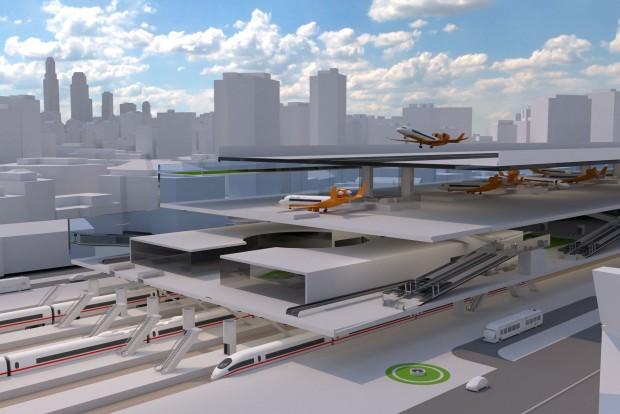 Da die Centairstation in der Stadt liegt, sollen die Reisezeiten kürzer werden. (Bild: Bauhaus Luftfahrt)