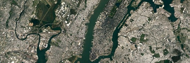 New York in der neuen Satellitenkarte. (Foto: Google)