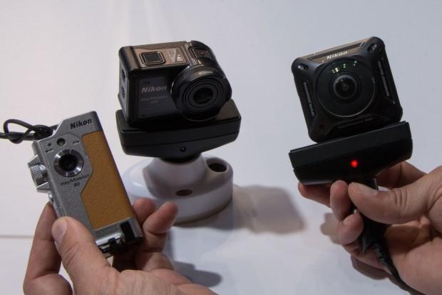 Nikons drei Actionkameras: Key Mission 80, 170, 360 (v. l.) (Foto: Werner Pluta/Golem.de)