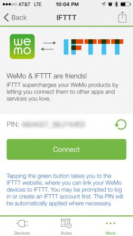 Die Wemo-App generiert zuerst eine PIN … (Bild: Michael Schilli)