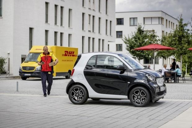 In-Car-Delivery von DHL und Smart (Bild: Smart)