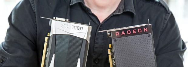 Geforce GTX 1060 und Radeon RX 480 (Foto: Martin Wolf/Golem.de)